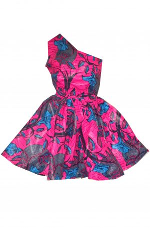 robe asymetrique en wax